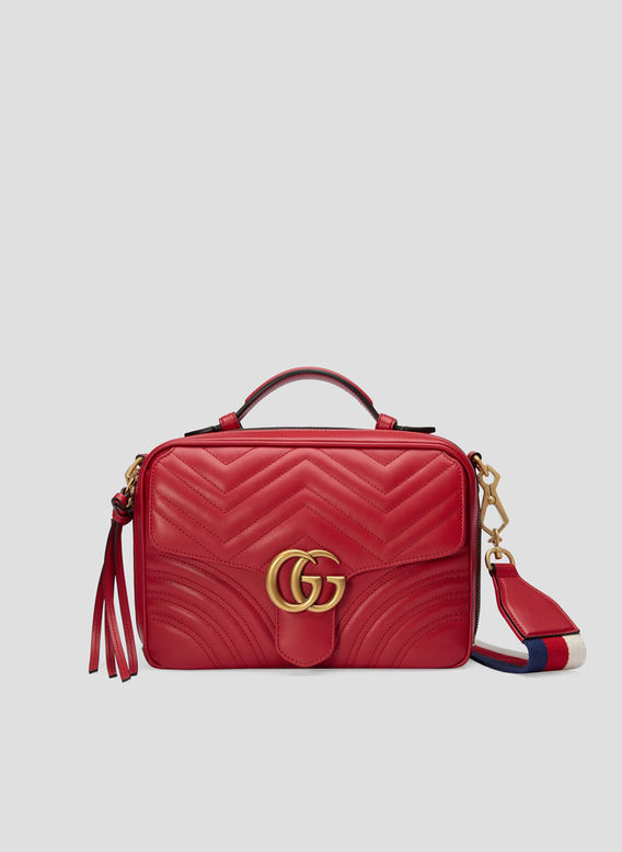 BORSA A MANO GG MARMONT, 8227RED, medium