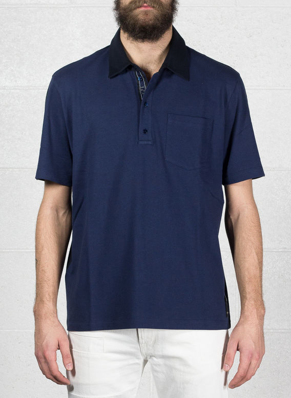 POLO B-COLOR NASTRO, F0XTU/BLUE/NAVY, medium