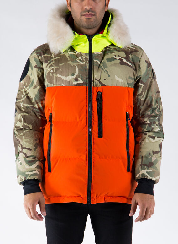 GIUBBOTTO REVERSIBLE ATLANTCO PARKA, MUTILCAMO/ORANGE, medium