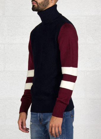 MAGLIONE, NAVY/BURGUNDY, small