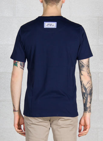 T-SHIRT T-101, NAVY, small