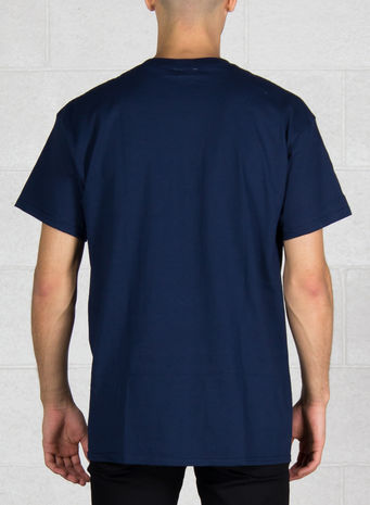 T-SHIRT OVAL, NAVY, small