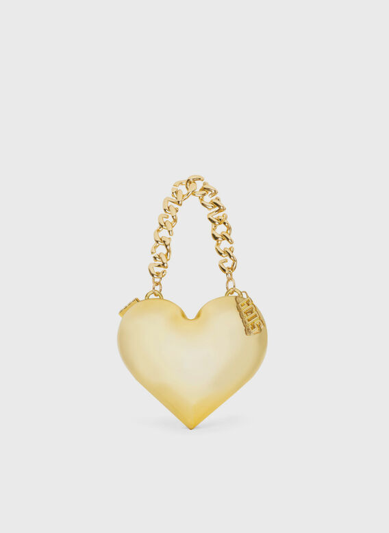 BORSA CUORE ORO, GOLD, medium