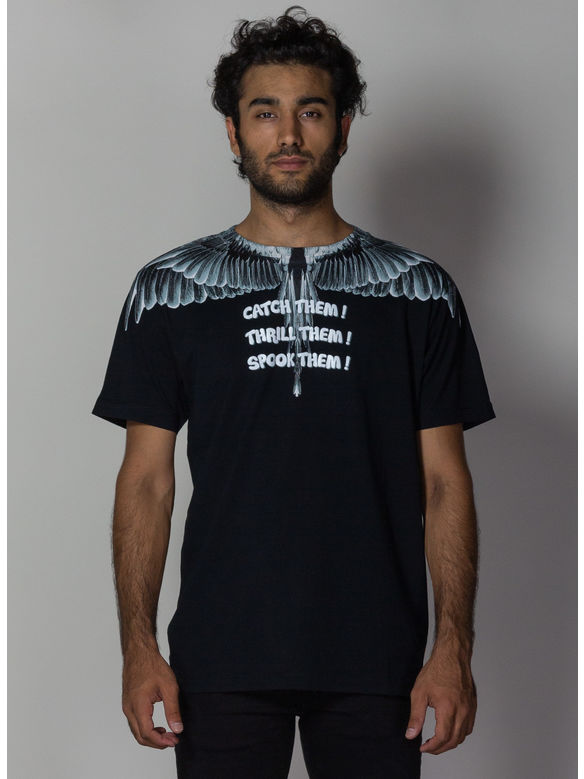 T-SHIRT CATCH THEM WINGS, BLACK/MULTI, medium
