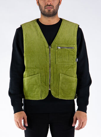 SMANICATO WIDE WALE REVERSIBLE VEST, GREENGREEN, small