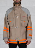 GIUBBOTTO CANVAS FIREMAN JACKET, BEIGE/SILVER, thumb
