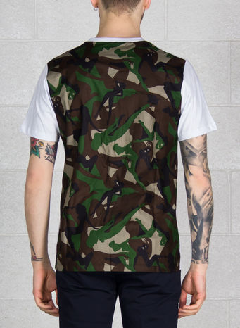 T-SHIRT CAMO, WHITE, small