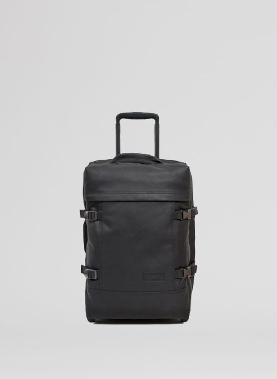 TROLLEY TRANVERZ LEATHER, BLACK, medium