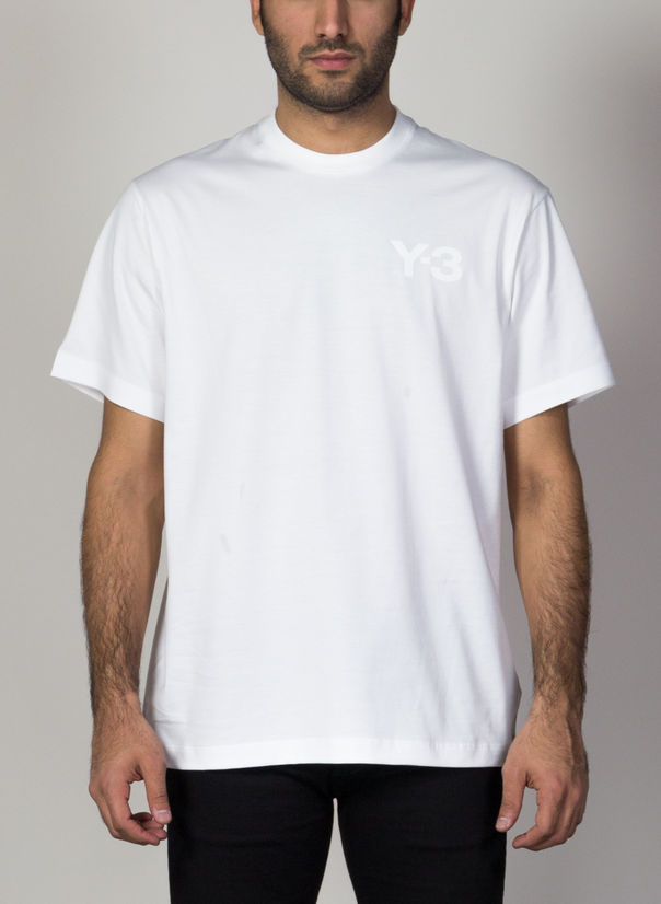 T-SHIRT FRONT LOGO SS TEE, WHITE, large