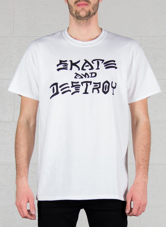T-SHIRT SKATE AND DESTROY, GREY, small