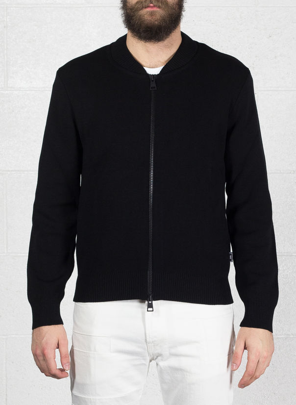 CARDIGAN ZIP, 001BLACK, large