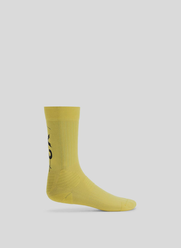 CALZINI Y-3 TUBE SOCKS, YELLOW, large