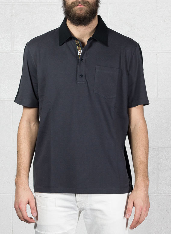 POLO B-COLOR NASTRO, F0UY7ANTRACITE/BLACK, medium