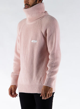 MAGLIONE TURTLENECK SWEATER, PINK, small