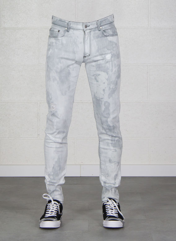 JEANS DISTRESSED DENIM, DIRT, medium