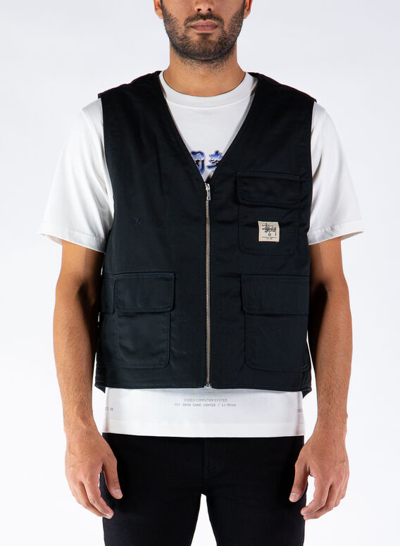 GILET INSULATED WORK, BLACK, medium