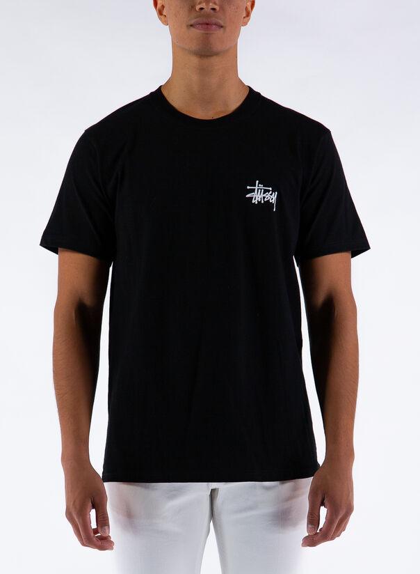 T-SHIRT BASIC STUSSY, BLACK, large