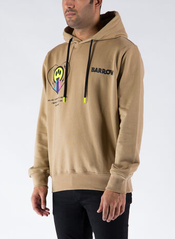 FELPA HOODY BLURRED LOGO, 094MUD, small