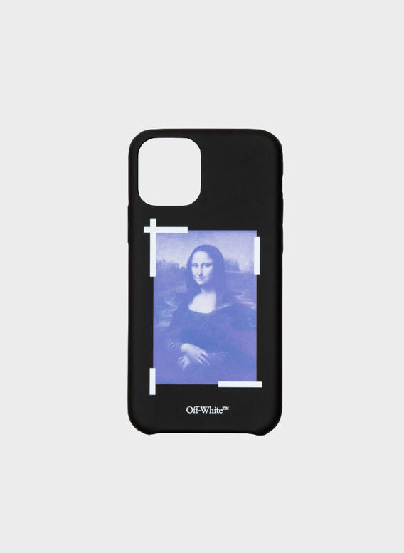 COVER IPHONE 11 MONALISA, 1001BLACKWHITE, medium