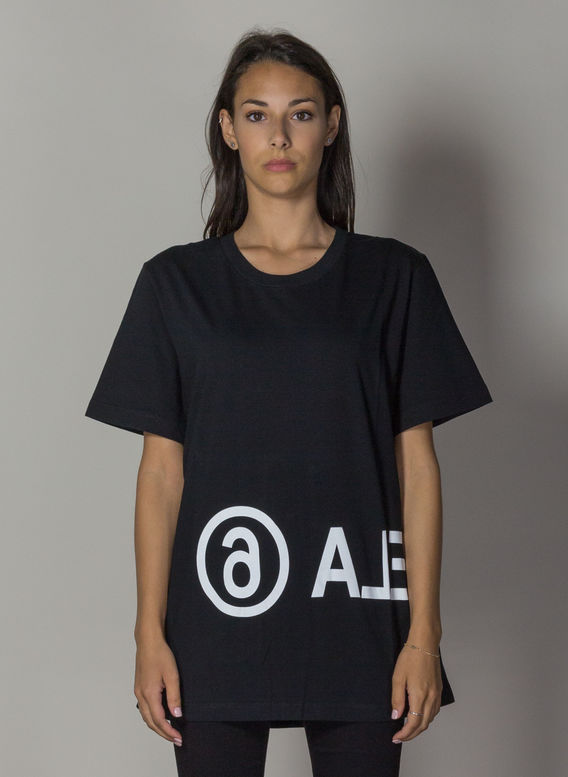 T-SHIRT CON LOGO INVERTITO, 900BLACK, medium
