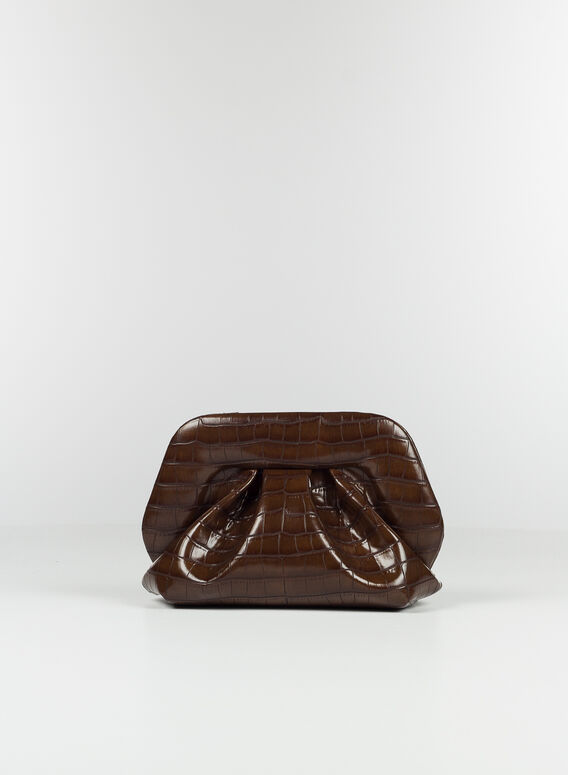 BORSA BIOS VEGAN CROCO, CHESTNUT, medium
