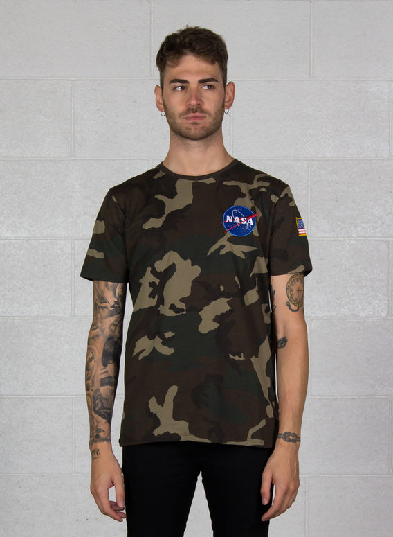T-SHIRT SPACE SHUTTLE T, 408WOODLANDCAMO, medium