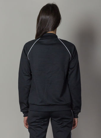 FELPA TRACK JACKET SST, BLACK, small