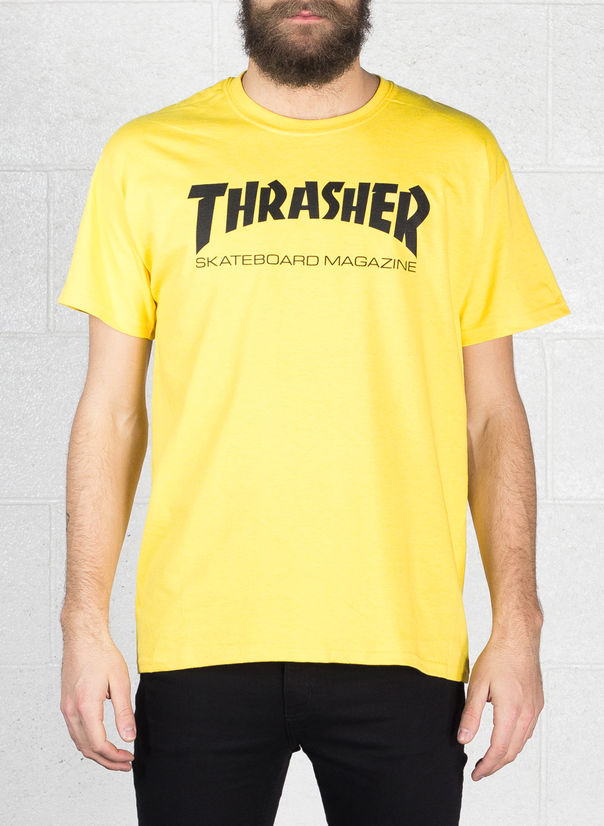 T-SHIRT SKATE MAG, YELLOW, large