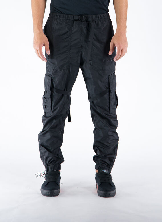 PANTALONE ARROW PARACHUTE CARGO PANT, 1010BLACKBLACK, medium