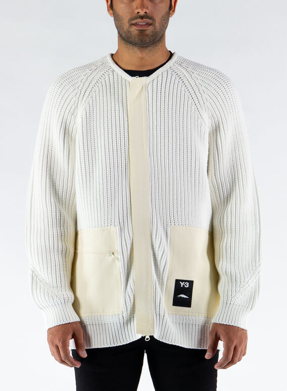 MAGLIONE KNIT CARDIGAN, CREAMWHITE, medium