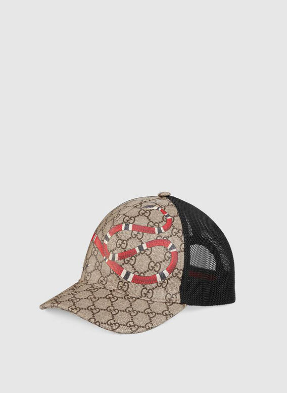 CAPPELLO DA BASEBALL IN TESSUTO GG SUPREME CON STAMPA KINGSNAKE, 1060, medium