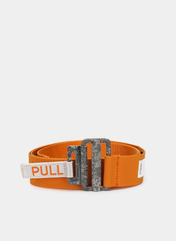 CINTURA KK TAPE BELT, ORANGE, medium