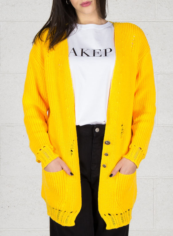 CARDIGAN, GIALLO, large