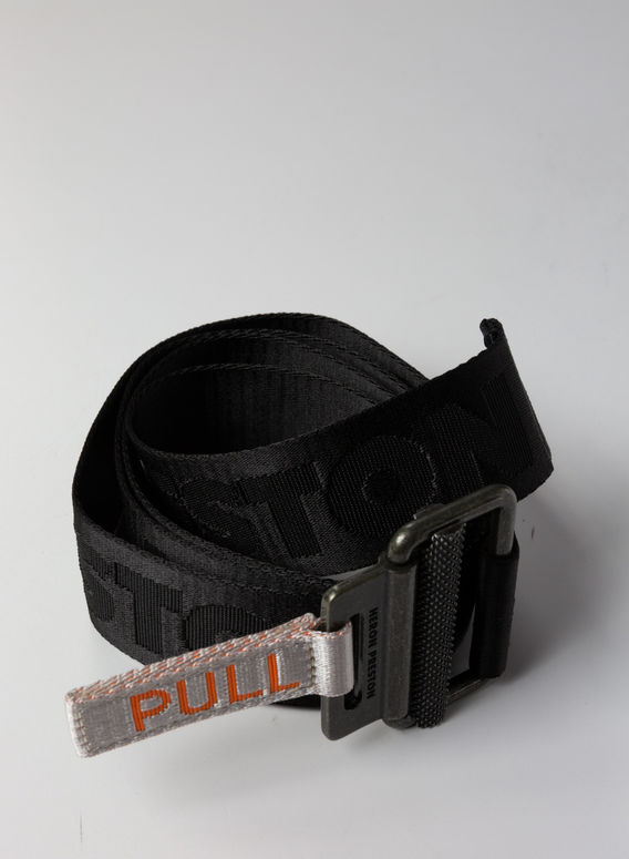 CINTURA TAPE BELT, BLACK/MEDIUMGREY, medium