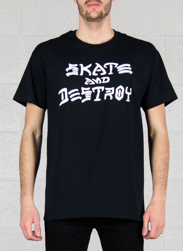 T-SHIRT SKATE AND DESTROY, BLACK, large