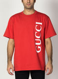 T-SHIRT OVERSIZE CON STAMPA GUCCI, 6068, thumb