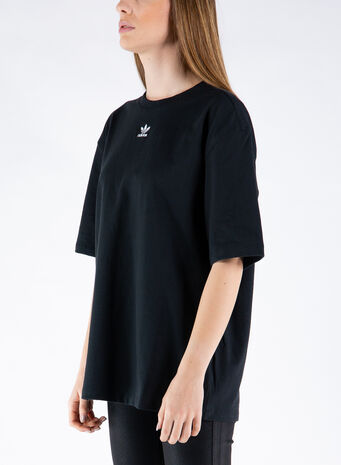 T-SHIRT LOUNGEWEAR ADICOLOR ESSENTIALS, BLACK, small