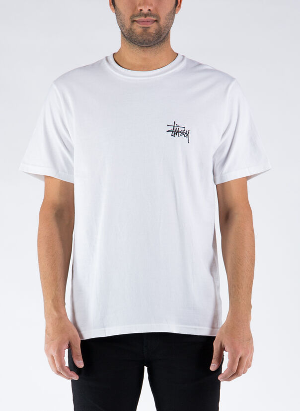 T-SHIRT BASIC, WHITE, large
