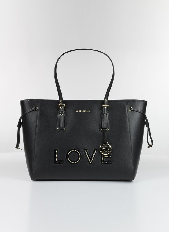 SHOPPING BAG LOVE, 001BLACK, medium