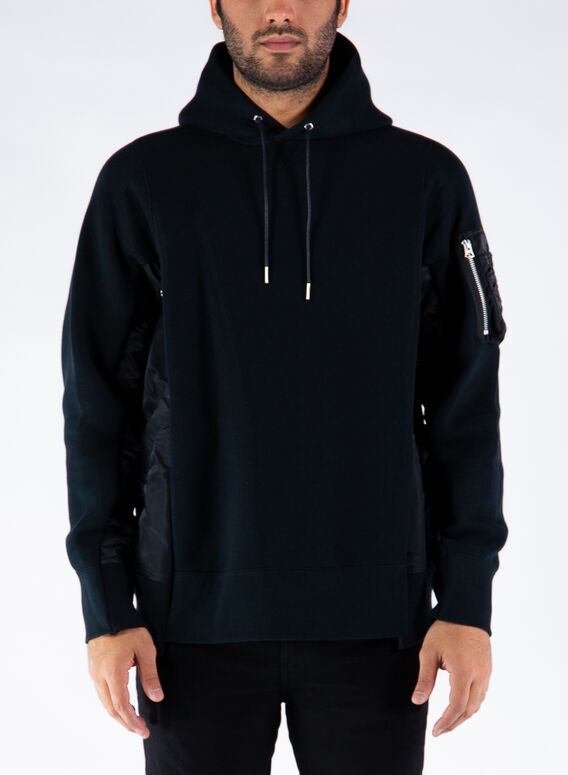 FELPA SPONGE SWEAT X MA-1 HO, BLACKXBLACK002, medium