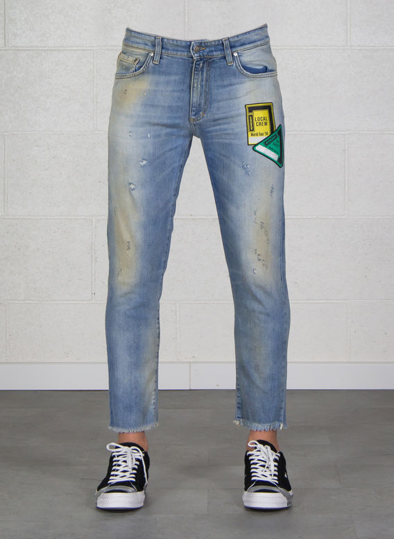 JEANS RELAXED DENIM, BLUE, medium