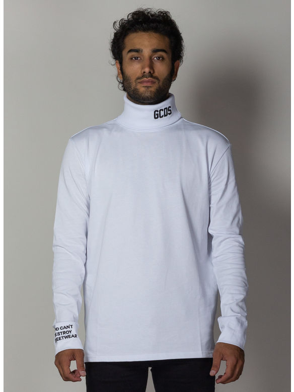 MAGLIA JERSEY TURTLE NECK, 01WHITE, medium