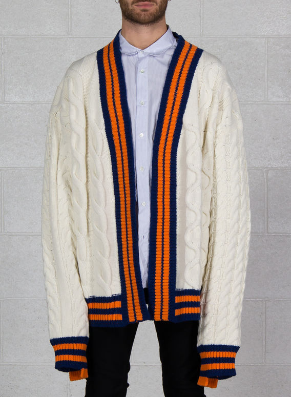 MAGLIONE ULU, WHITE/ORANGE/NAVY, medium