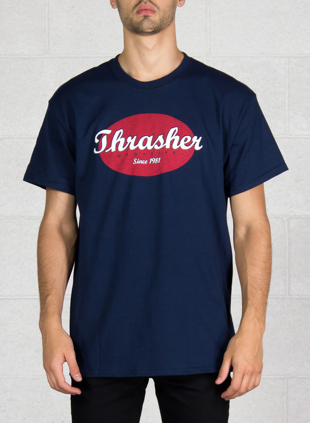 T-SHIRT OVAL, NAVY, large