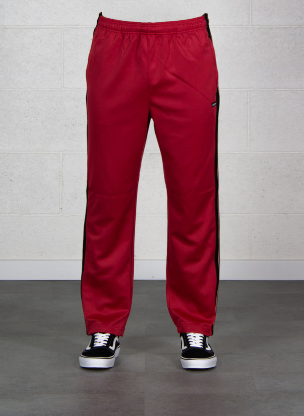 PANTALONE TEXTURED RIB TRACK PANT, RED, large