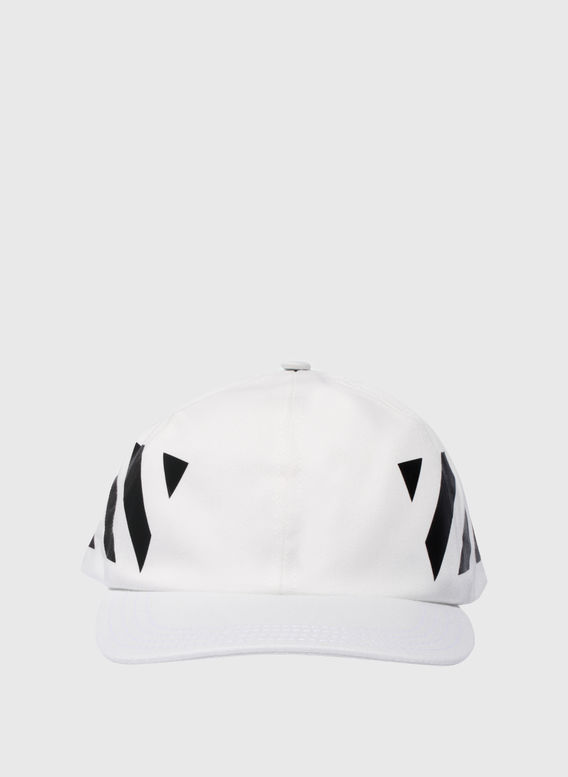 CAPPELLO DIAG, WHITE/BLACK, medium