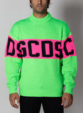 MAGLIONE COLORFUL LOGO SWEATER, 05GREEN, thumb