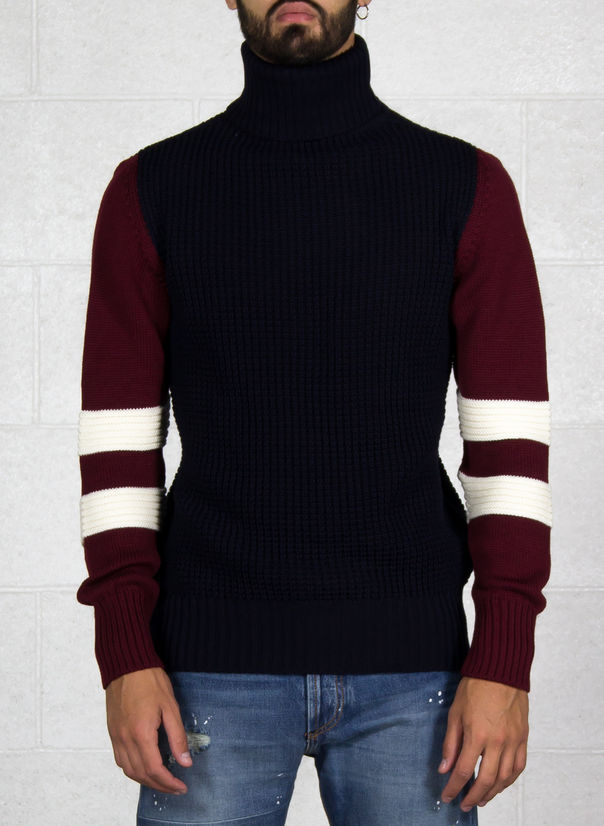 MAGLIONE, NAVY/BURGUNDY, large