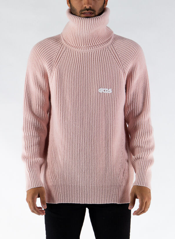 MAGLIONE TURTLENECK SWEATER, PINK, large