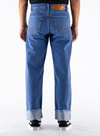 JEANS WIDE FIT DENIM, 07BLUE, small